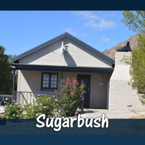 Sugarbush Chalet (2 Sleeper) accommodation at The Baths Hot Springs self-catering resort in Citrusdal. Enjoy the hot springs and rock pools of Citrusdal